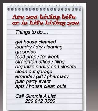 cleaning services list
